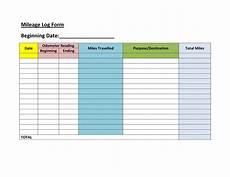 Mileage And Expense Log 30 Printable Mileage Log Templates Free Template Lab