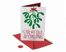 Romantic Christmas Cards Premier Romantic Mistletoe Christmas Card American Greetings