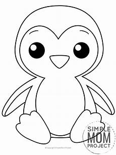 free printable penguin coloring page simple project