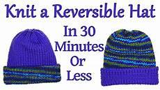 knit a reversible hat on your addi king knitting machine