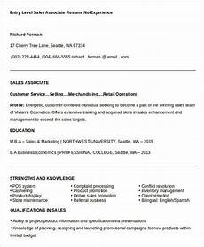 Sample Resume Retail Sales Associate No Experience Sales Resume Template 24 Free Word Pdf Documents