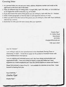 How To Write Covering Letter For Cv Click On Applying For A Job Covering Letters Amp Cvs