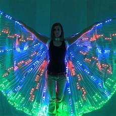 Light Up Halloween Accessories Led Belly Dancing Lsis Wings Dj Wing Girls Dance Costumes
