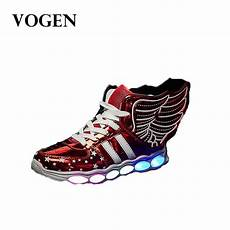 Kids Gold Light Up Shoes Boys With Luminous Sneakers Glowing Wing Kids Light Up