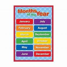 Months Of The Year Chart Sona Edons