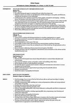 Gis Resume Gis Consultant Resume Samples Velvet Jobs