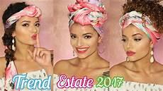 ragazza vanitosa 3 acconciature turbante facili con foulard capelliricci