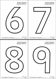 Take A Number Template Number Templates 0 To 9