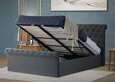 winfield ottoman bed frame with lift up storage home