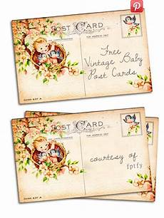 Baby Post Cards Free Vintage Altered Art Baby Post Card