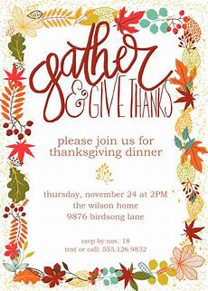 Thanksgiving Party Invitations Customizable Thanksgiving Invitation Free Printable