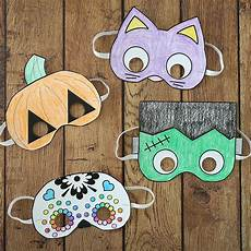 crafts halloween masks to print and color it s always autumn