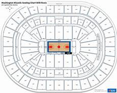 Washington Wizards Seating Chart With Rows Wizards Amp Georgetown Seating Charts At Capital One Arena