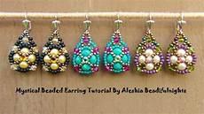 mystical beaded earrings tutorial