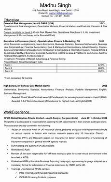 How To Complete A Resume Resume Formats Making Resume