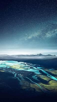 4k ultra hd nature wallpaper for mobile mountain range river landscape starry sky free