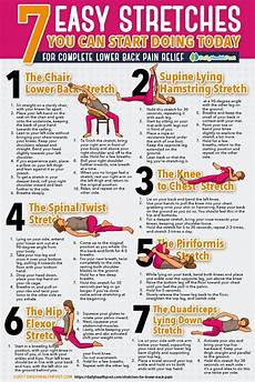 Lower Back Stretches Chart 7 Stretches For Lower Back Relief You Can Start Doing
