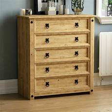 corona 5 drawer chest rustic distressed waxed pine bedroom
