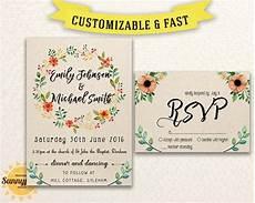 Wedding Invitation Downloads Rustic Wedding Invitation Templates