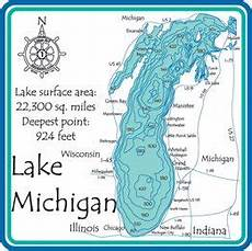 Trout Lake Depth Chart Amazon Com Lake Michigan 3d Laser Carved Depth Map