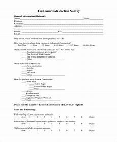 Customer Satisfaction Form Free 8 Sample Customer Satisfaction Forms In Pdf Word