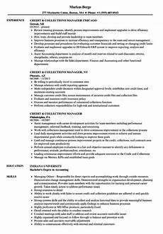 Collection Manager Resume Credit Amp Collections Manager Resume Samples Velvet Jobs