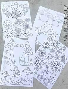 Malvorlagen A4 Malvorlagen Din A4 Blumen Fliegenpilze Zwergenschoen