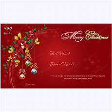 Gift Certificate Ideas For Christmas Christmas Gift Certificate Template 10 Word Layouts