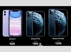 Apple iPhone 11, iPhone 11 Pro, iPhone 11 Pro Max pre