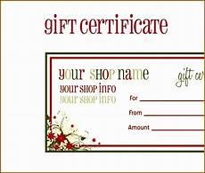 Editable Gift Certificate Template 5 Gift Voucher Template Editable Sampletemplatess