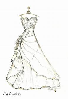 wedding dress sketch made of your bridal gown emmaline