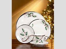 Amazon.com   Lenox Holiday Nouveau Platinum White 5 Pc