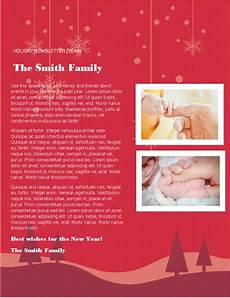 Holiday Family Newsletter Templates All Holidays Office Com