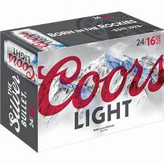 Coors Banquet Vs Coors Light Coors Light Lager 24 Pack 16 Fl Oz Cans 4 2 Abv