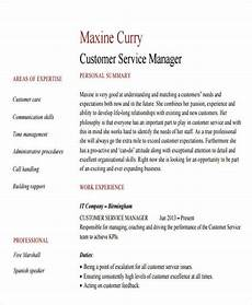 Professional Customer Service Resume 26 Professional Manager Resume Psd Word Apple Pages