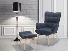 sessel mit hocker design sessel mit hocker relaxsessel polstersessel dunkelblau