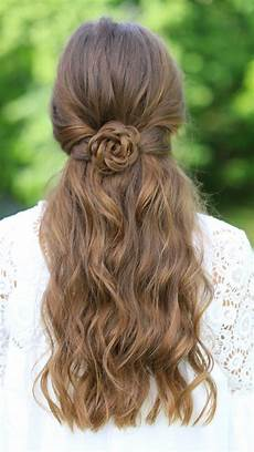 rosette tieback cute girls hairstyles cute girls