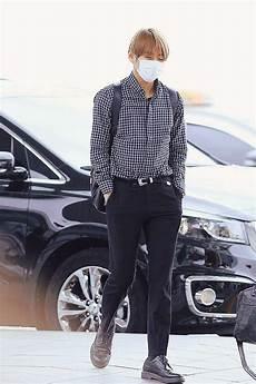 taehyung airport fashion v k o o k amino