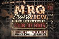 Stheititc Light Font Marquee Front View Color Fonts Display Fonts