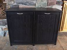 new black painted wood trash bin cabinet garbage can