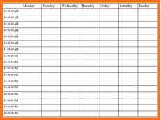 Time Management Schedule Template Time Management Templates Charlotte Clergy Coalition
