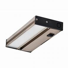 nicor nuc 8 in led nickel dimmable cabinet light