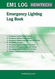 Emergency Lighting Certificate Pdf Kewtech Emcert Emergency Lighting Certification Book