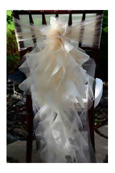 set of 10 custom chair sashes curly accents optional