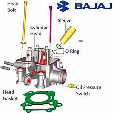 Light Cylinder Pulsar Bajaj Pulsar As200 Cylinder Head