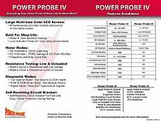 Power Probe Chart Difference Between The Power Probe 4 And Power Probe 3