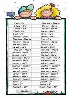 Short Form Short Form And Long Form Esl Worksheet By Miss Lulu