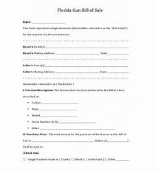 Florida Bill Of Sale Form Free 11 Sample Bill Of Sale For Firearms In Pdf Word