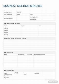 Microsoft Meeting Minutes Template Sample Business Meeting Minutes Template In Microsoft Word