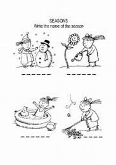 seasons coloring page esl worksheet by niesers